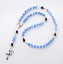 Small Cats Eye Personalised Rosary with Engraving